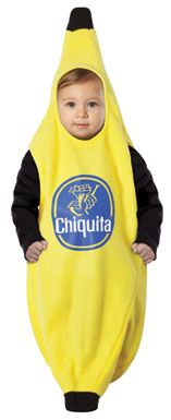 Banana Bunting Costume with a Chiquita Sticker - Funny Baby Costumes