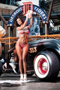 Car, Sexy, Woman, Wash, Model