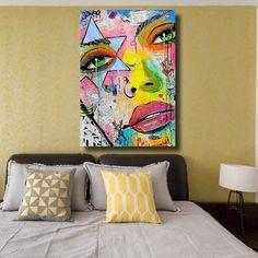 Tableau Pop Art Abstrait Everyday Artist Painting, Painting Frames, Tableau Pop Art, Soft Pastel Art, Art Deco Illustration, Abstract Canvas Art, Arte Pop, Art Abstrait, Doodle Art