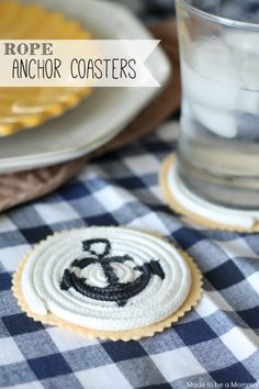 Rope Anchor Coasters - Made To Be A Momma