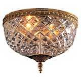 "Crystal 10"" Wide Flushmount Ceiling Fixture"