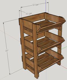 Dimensions of the 3 tier bin