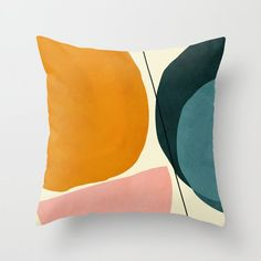 Abstract Shapes, Painting Abstract, Bedroom Orange, Green Sofa, Designer Throw Pillows, Down Pillows, Pillow Design, Rustic Style, Wall Tapestry