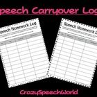 Use these logs for students working at the reading or conversation level encourage practice and carryover of speech skills!  Each page has columns ...