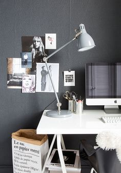 Home Office Inspiration Nordic Home, Nordic Interior, Nordic Style, Interior And Exterior, Scandinavian Apartment, Workspace Inspiration, Decoration Inspiration, Room Inspiration, Interior Inspiration