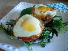 Prosciutto & Provolone Baked Egg Breakfast