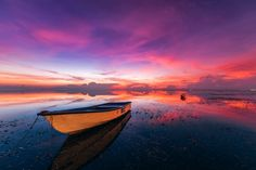 """In Stillness - Sunrise over the calm warm waters of Sanur Beach, on the east coast of Bali, Indonesia  <a href=""""http://www.peterstewartphotography.com"""">www.peterstewartphotography.com </a> <b> Follow my latest updates on: </b> <a href=""""http://facebook.com/PeterStewartPhotography""""> Facebook  