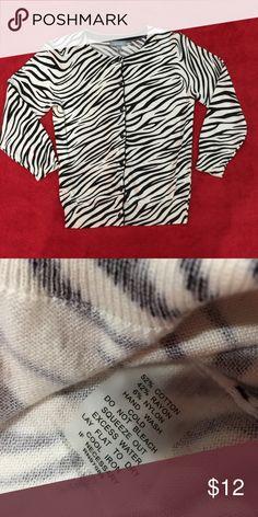 Delias Medium Zebra Print Cardigan w/3/4 sleeves. Delias Medium Zebra Print Cardigan with 3/4 sleeves. EUC Worn once. Delias Sweaters Cardigans