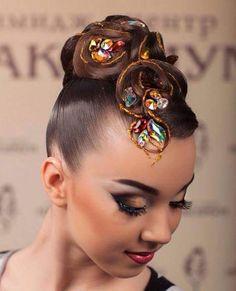 Latin Hairstyles, Holiday Hairstyles, Elegant Hairstyles, Dance Competition Hair, Ballroom Dance Hair, Bleached Hair, Hair Art, Gorgeous Hair, Hair Jewelry