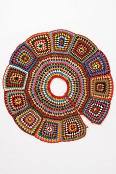An easy DIY crochet project (a wraparound tree skirt) using the granny square technique... is currently selling at Anthropologie for Two Hundred & Eight Dollars.