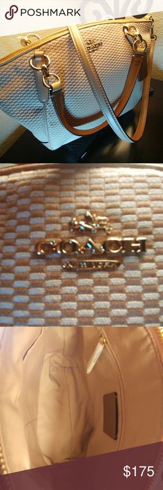 Coach Handbag NWT This bag is beautiful. Beautiful rich tan in color. Striking. I've lowered the price to a SALE PRICE. THANK YOU FOR SHOPPING MY CLOSET!!💜💙❤ Coach Accessories