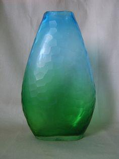 Antique Murano Art Deco Battuto Art Glass Vase- Carlo Scarpa & Venini Style