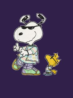SNOOPY & WOODSTOCK~Joe Cool Dancing
