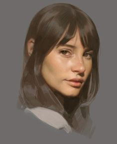 Art by Tony Yeh Sketch Inspiration, Portrait Inspiration, Digital Portrait, Portrait Art, Face Photography, Cg Art, Traditional Paintings, Art Sketchbook, Art Pictures