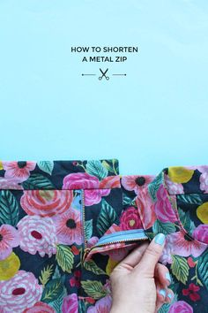 How to shorten a metal zip - Tilly and the Buttons Sewing Hacks, Sewing Tutorials, Sewing Crafts, Sewing Tips, Sewing Projects, Patchwork Quilt Patterns, Sewing Patterns, Tilly And The Buttons, Make Your Own Clothes