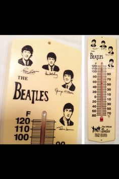 Beatles thermometer - never existed until the 70s. Great item - too bad it is not a true licensed item