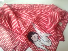 BETTY-BOOP-RED-POLKA-DOT-Scarf-Square-Bandana-Neck-TIE-POLYESTER-20-5-UK-NEW