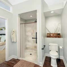 ADA Accessible Master Bathroom Addition with Zero Entry Shower Master Bathroom Plans, Master Bedroom Bathroom, Master Bathroom Remodel Ideas, Small Master Bathroom Ideas, Small Bathroom Floor Plans, Handicap Bathroom, Master Shower, Vanity Bathroom, Blue Bedroom