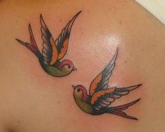 swallow tattoo - shape and style