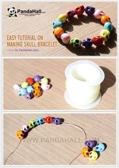 Easy Tutorial on Making Skull Bracelet | easy crafts by wanting