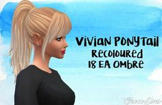 Choco Sims: Ombre Hair retextured • Sims 4 Downloads
