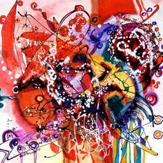 oil on canvas size 80cmx80cm dripping technique signed E.Bissinger 2014   It requires no frame. Certificate of Authenticity.