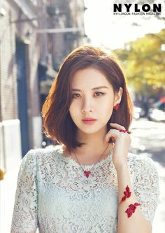 Seohyun of K-pop group 'Girls' Generation', who seems to be keener on the screen than the stage since turning to acting, is set to star in another TV series 'Time - Drama' which is slated to air sometime in July. Seohyun, Snsd, Kpop Girl Groups, Kpop Girls, Chaotischer Pixie, Medium Hair Styles, Short Hair Styles, Haircut And Color, Girl Day
