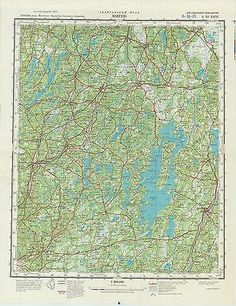 Russian Soviet Military Topographic Map – LJUNGBY (Sweden) 1:200 000, ed. 1978 - http://collectibles.goshoppins.com/militaria/russian-soviet-military-topographic-map-ljungby-sweden-1200-000-ed-1978/