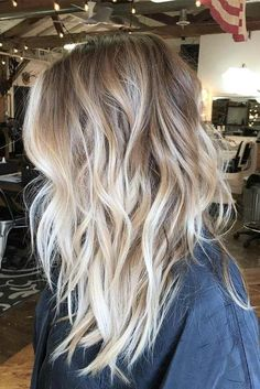 45 Balayage Frisuren – Balayage Haarfarbe Ideen mit Blond, Braun, Karamell, Rot - All For Hair Cutes Dark Blonde Hair Color, Blond Ombre, Ombre Hair Color, Hair Color Balayage, Messy Blonde Hair, Ombre Balayage, Red Blonde, Ombre Brown, Ombre Hair For Blondes
