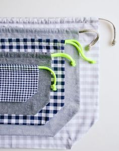 Easy Drawstring Bag: Four New Sizes! - Knitting Crochet Sewing Crafts Patterns and Ideas! - the purl bee