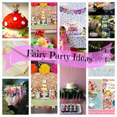 Fairy Party Collage.  How awesome is this party?!