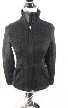 9439da04c18 Spyder Women s Size Small Core Knit Sweater Full Zip Black Ski Jacket   Spyder  Ski