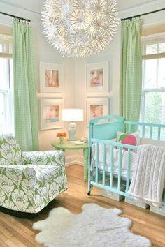 Nursery Aqua & green.