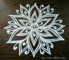 Rangoli Designs Flower, Rangoli Border Designs, Rangoli Designs With Dots, Rangoli Designs Diwali, Kolam Rangoli, Flower Rangoli, Rangoli With Dots, Beautiful Rangoli Designs, Mehndi Designs