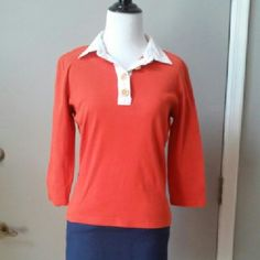 Ralph Lauren Top 3/4 sleeve top with collar and gold buttons Ralph Lauren Tops Blouses
