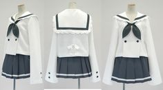 Azure Costume Lucky Star dress Sailor dress Sailor uniform Fuku dress Shcool Uniform