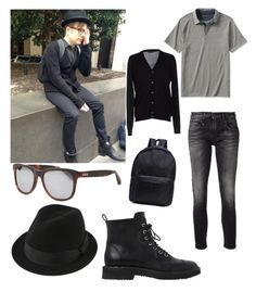 """""""Patrick Stump """" by my-all-time-romance-21 ❤ liked on Polyvore featuring Banana Republic, Prada, R13, Giuseppe Zanotti and Taylor Morris"""