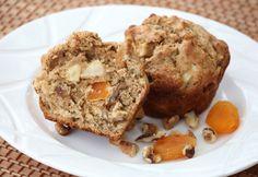Apple Apricot Walnut Muffins