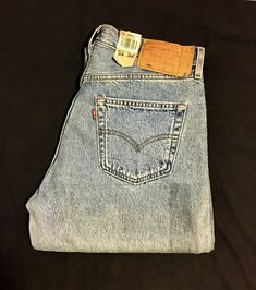ed0bbaba VINTAGE LEVI'S 501 Made in USA Size 34/34 Heavy Weight Cotton Denim New WT