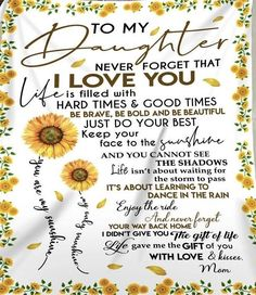 Love My Daughter Quotes, To My Daughter, Love My Kids, I Love You, My Love, Do Your Best, Never Forget, Good Times, Believe