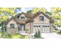 Eplans Contemporary-Modern House Plan - Contemporary Home with Neo-Traditional Lines - 2093 Square Feet and 3 Bedrooms from Eplans - House Plan Code HWEPL12850