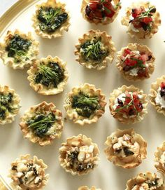 Ricotta and Roasted Pepper Tartlets  - CountryLiving.com