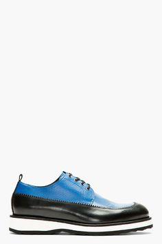 PIERRE HARDY Blue & Black Leather Derbys