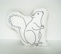 Woodland Décor - Squirrel Organic Pillow - Soft Toy