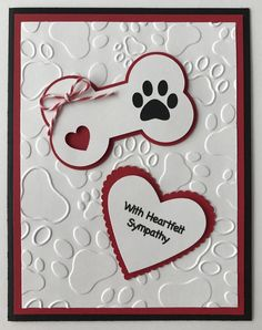 45257 best greeting cards images on pinterest cards handmade handmade dog sympathy card heartfelt sympathy furry friend dog puppy m4hsunfo