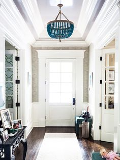 8 Favorite Beaded Light Fixtures- in clear for entryway