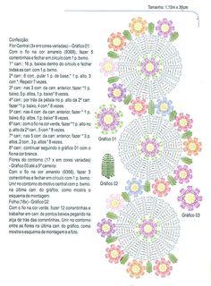 Home Decor Crochet Patterns Part 26 - Beautiful Crochet Patterns and Knitting Patterns Crochet Table Runner Pattern, Crochet Doily Patterns, Crochet Tablecloth, Crochet Diagram, Crochet Chart, Thread Crochet, Crochet Motif, Crochet Designs, Crochet Stitches