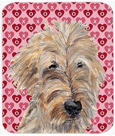 Goldendoodle Valentine's Love Glass Cutting Board