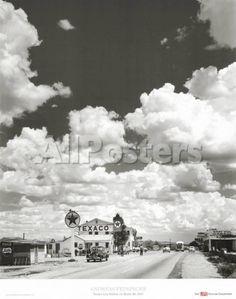 Route 66, Arizona, 1947 Landscapes Art Print - 56 x 71 cm