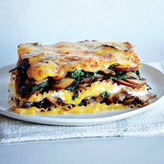 Vegetable Lasagna with Butternut Béchamel - Healthy Lasagna Recipes - Cooking Light Healthy Vegetable Lasagna, Healthy Lasagna Recipes, Best Lasagna Recipe, Veggie Lasagna, Healthy Vegetables, Vegetarian Recipes, Vegetable Lasagne, Light Lasagna Recipe, Polenta Lasagna